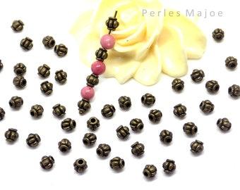 craft*diy 80 perles intercalaires Tube Accessoires 6x6mm