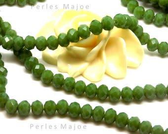 6 perles de verre feuille verte 11 x 7 mm