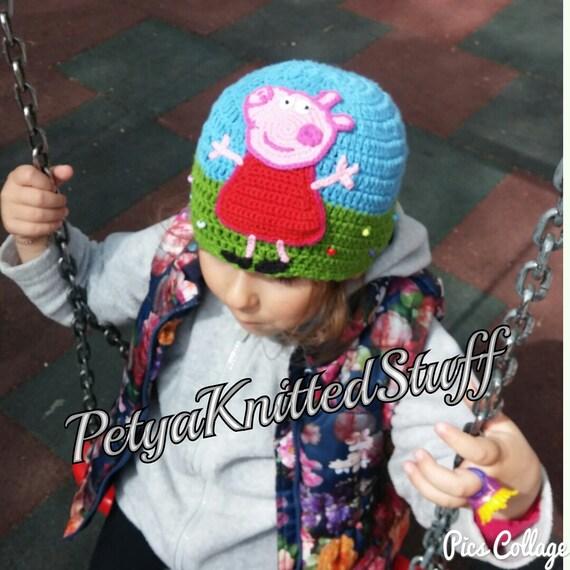 Peppa Pig Inspired Beanie