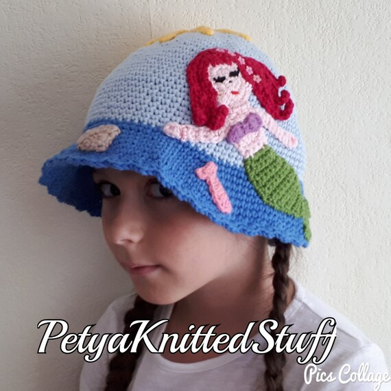 Mermaid Hat Crochet Mermaid Hat Crochet Princess Hat Ariel  45c0b121c96