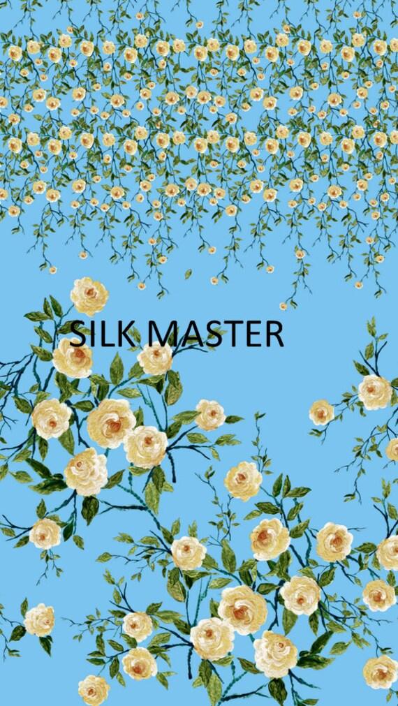 71ac11872c97f tissu en soie imprimé satin, satin, imprimé belle floral, 45