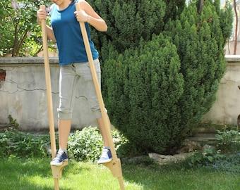 Wooden Stilts for children, Wooden Legs, Gift for Kids, Wooden Hooks, Eco friendly kids toy