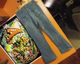 d4bff097e5f Levi big E orange tag 646 0217 vintage bell bottom jeans