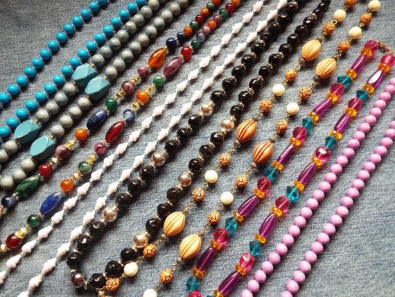 Vintage necklaces, lot of eight costume jewelry ne