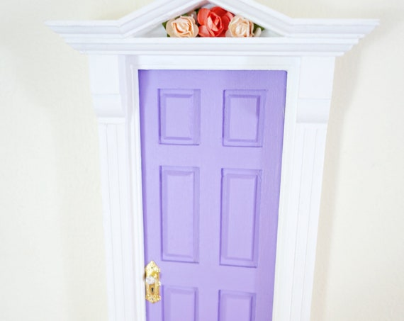 Purple fairy door, Fairy door with rope ladder, purple fairy doors, tooth fairy door purple and pink