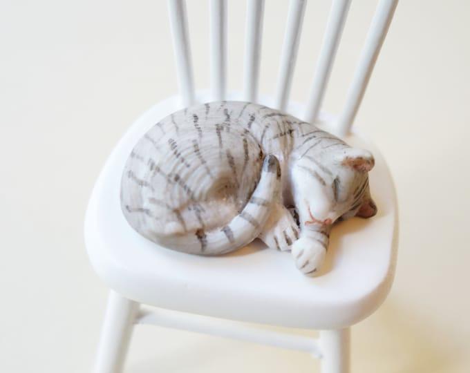 Gray Cat, sleeping
