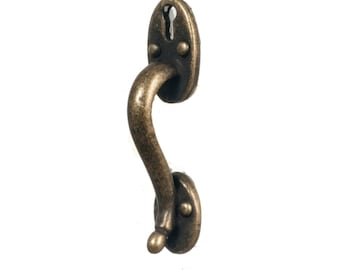 Long antique door handle