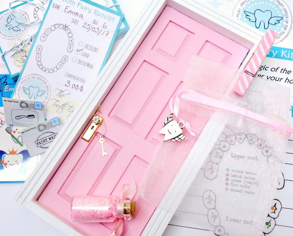 Tooth Fairy Certificate Pink With Tiny Tooth Fairy Charm