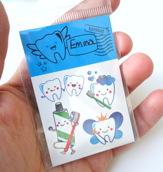 Tooth Fairy Temporary Tattoos, Tooth Fairy gift, Tooth Fairy, Tooth Fairies, Dentist gift, Dentist Tattoos
