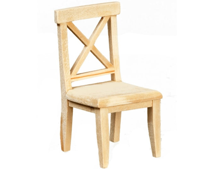 Cross buck chair, unfinished