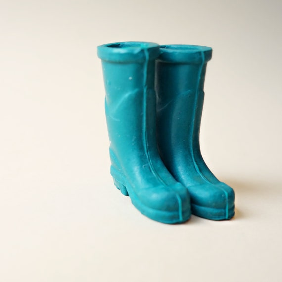 Teal fisherman boots