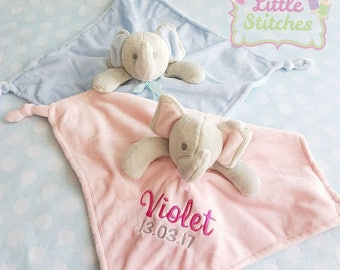e4a27a8cce25 Elephant comforter personalised with name