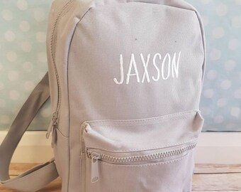 Personalised grey backpack 29f17f24b8ccf
