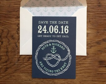 Nautical - Save the Dates