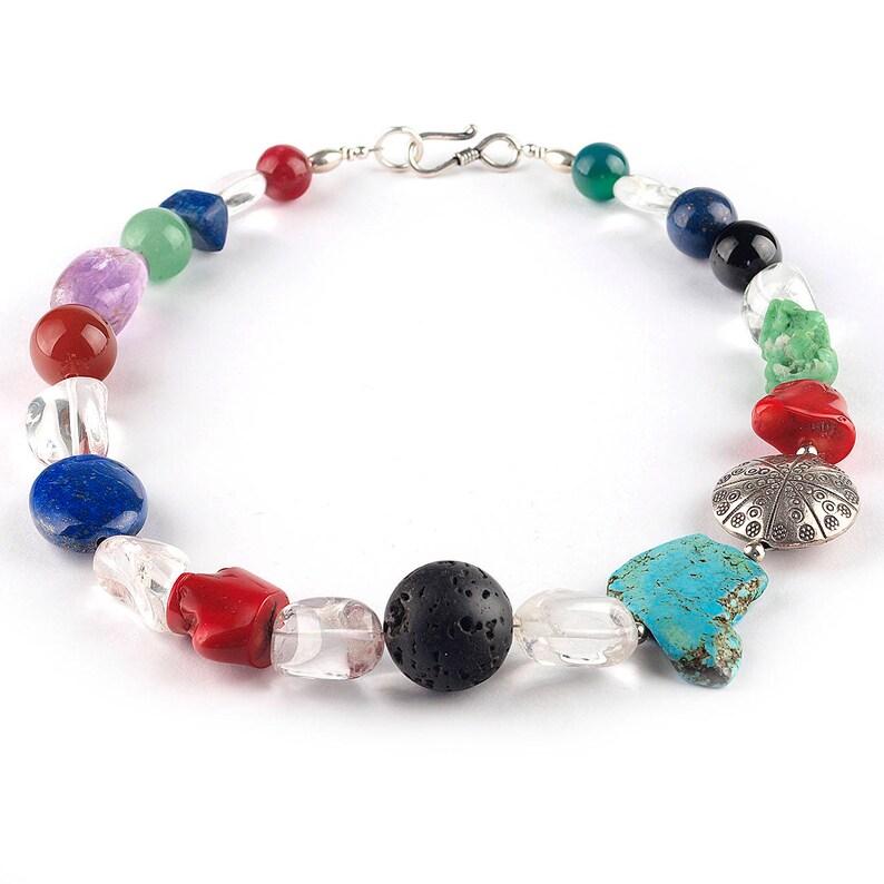 fa34f983db8f Collar coral rojo Collar lava negra Collar turquesa Collar