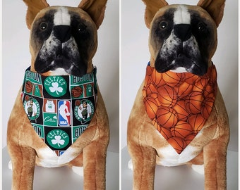7f074f59 Reversible Bandana, Made With NBA Boston Celtics Fabric, Basketball, Scarf  Cat Dog Pet Slip On Over The Collar 2 in one