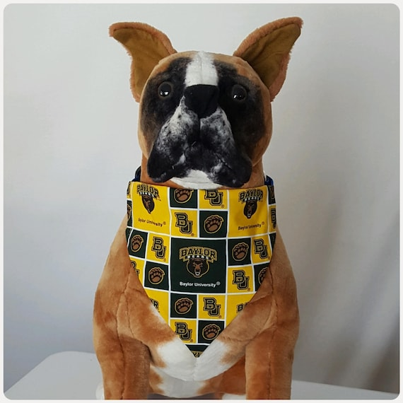 on sale 4a442 085f7 Reversible Bandana, Made With Baylor University Fabric, Texas, Bears,  Scarf, Dog, Cat, Pet, Slip On Over The Collar, 2 in one