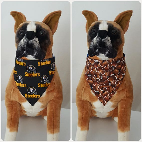 f6372c2478f Reversible Bandana Made With NFL Pittsburgh Steelers Fabric | Etsy