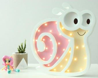 Night light for baby Nightlight snail Gift for baby Kids nightlight Marquee letter Marquee sign Marquee lights Baby lamp Baby shower gift