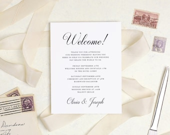 Welcome template guest bag card hotel card word or pages welcome template guest bag card hotel card word or pages mac or spiritdancerdesigns Image collections