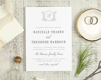 Wedding Invitation Templates Word | Printable Wedding Invitation Template Word Or Pages Mac Or Etsy