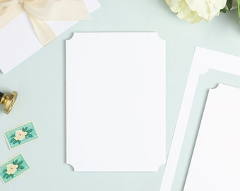 everly die cut card stock perforated paper for wedding etsy