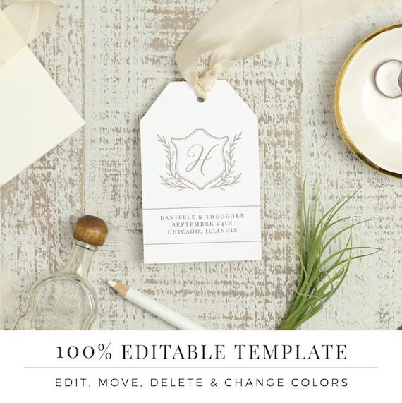 Wedding favor tag template printable hang tags word or etsy image 0 maxwellsz
