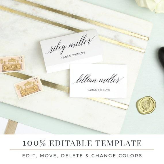 Wedding place card template printable escort cards modern etsy image 0 maxwellsz