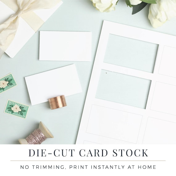 Flat Place Card Paper Perforated Paper For Place Cards And Etsy