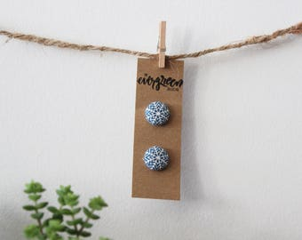Snowflake Button Earrings