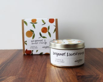 Hand Poured Soy Wax Candle Scented with Essential Oils