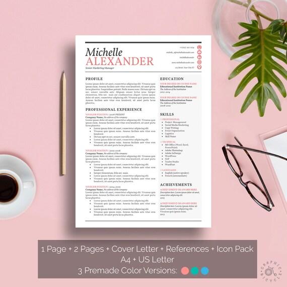 Reanudar el diseño femenino de la plantilla Creative