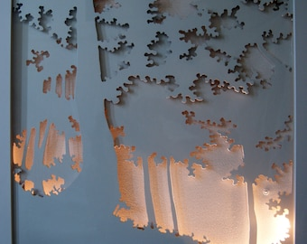 The forest, three-dimensional illuminated Whiteboard