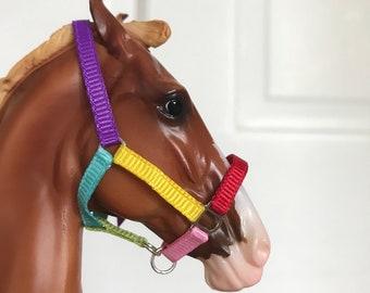 Rainbow 1:9 Scale Multi-Color Nylon Halter for Breyer/Stone Model Horses