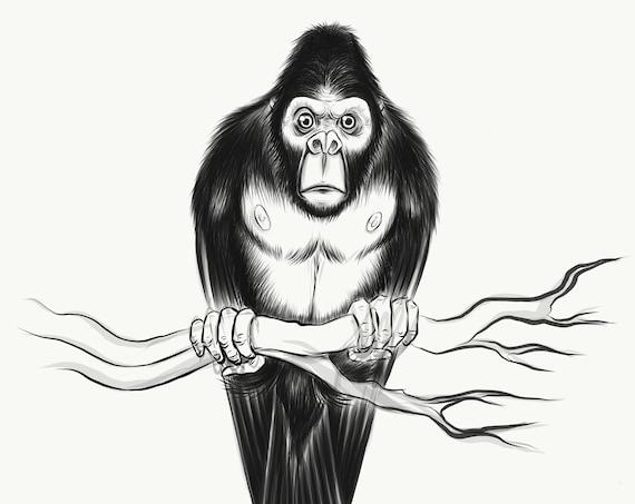 Gorilla Bird sketch