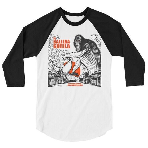 La Ballena Gorila 3/4 sleeve raglan shirt