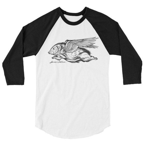 Flying Javelina 3/4 sleeve raglan shirt