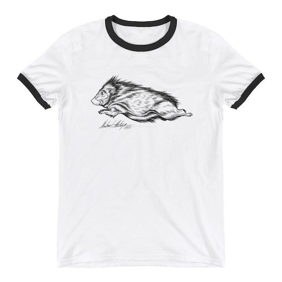 Javelina with mask - Ringer T-Shirt
