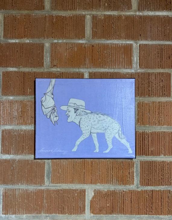 The Bat & The Hyena canvas print