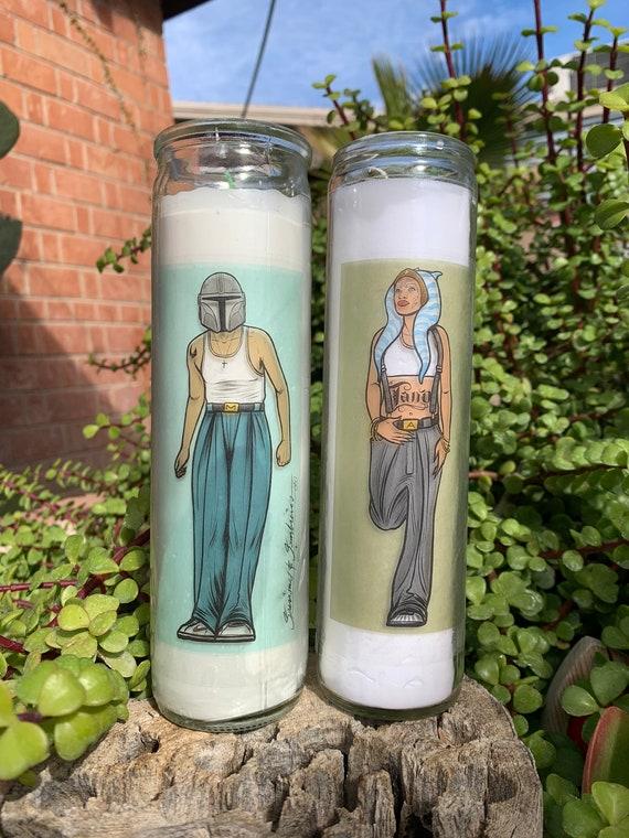 The Mandalorian & Ahsoka Tano Prayer Candles