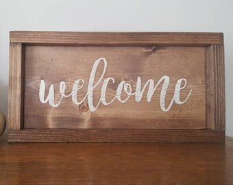 Welcome Sign, Welcome Wooden Sign, Wood Welcome Sign, Welcome Wall Decor, Welcome Mantle Decor, Welcome Sign Wood,