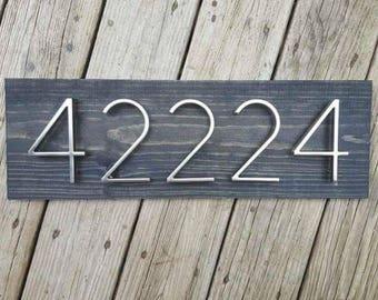 Address Plaque, Wooden Address Plaque, House Numbers Sign, House Numbers Plaque, Address Sign, House Numbers, Horizontal Address