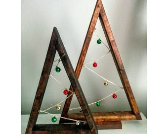 Rustic Christmas Tree, Ornament Tree, Christmas Ornament Tree, Rustic Christmas, Rustic Ornament Tree, Shelf Decor, Christmas Mantle Display