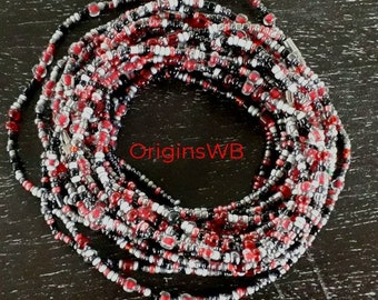 belly chains waist beads Mixed grey and pale pink beads with or without clasp
