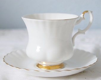 Vintage Royal Albert Bone China 'Val D' Or' Lady Size Cup and Saucer, England