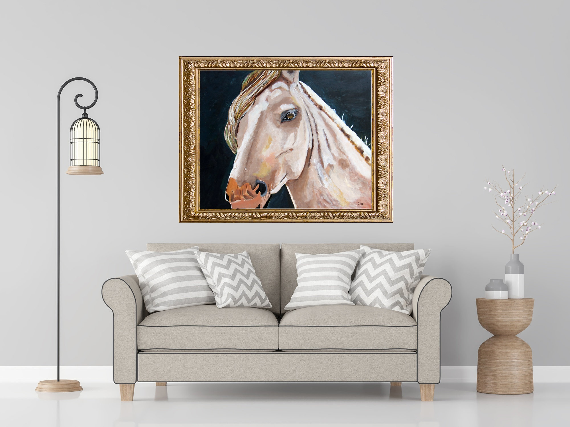 Humble | WildLife | Nature | Woods | Horse | Original Painting | Decor |  Acrylic Painting | Wall Art | Nursery | School