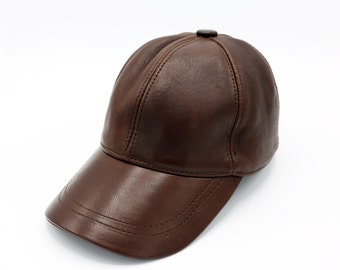 8ec059b3b6d Dark Brown Leather Hat