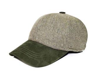 Dark Green Wool Sued Hat 2d59acdbb1bb