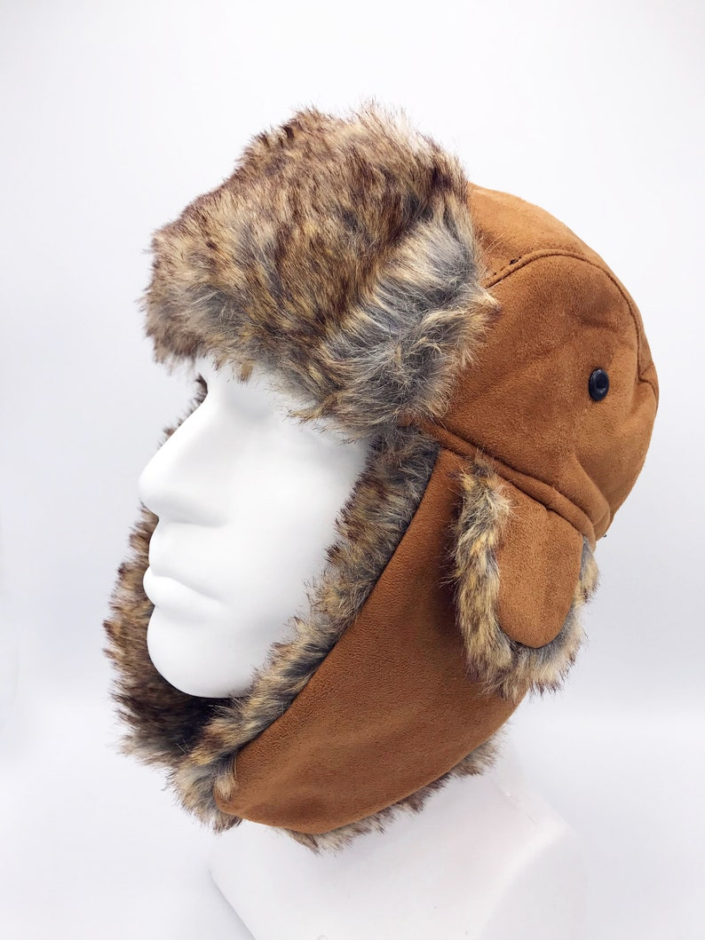 3d37031b04f Aviator Hat Tan Hat Pilot Leather Cap Suede Leather Hat