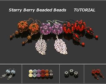 Starry Berry Beaded Beads - Earrings, Bracelet, Necklace - PDF beading pattern